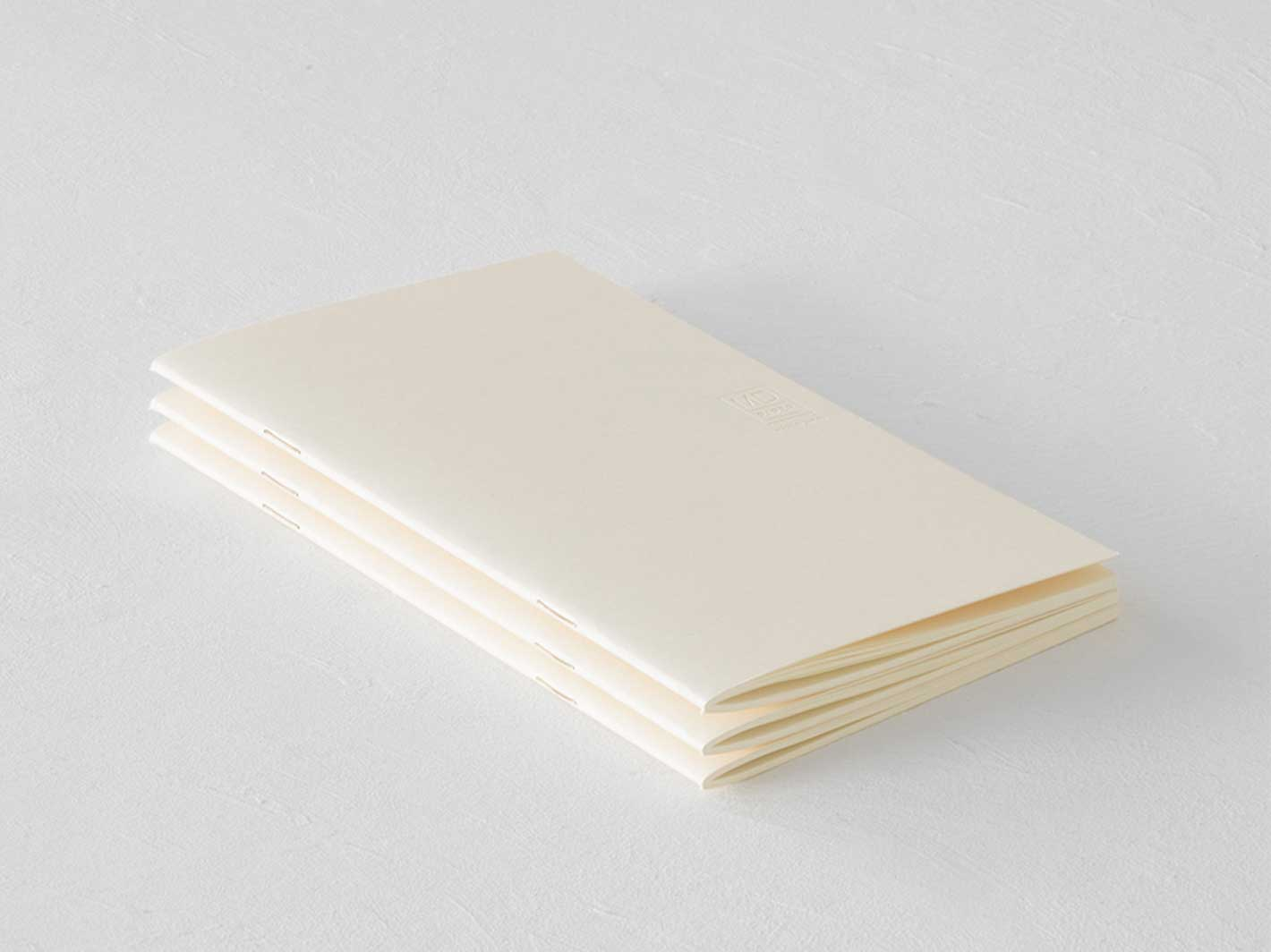 MD Notebook Light Blank B6 3-pack