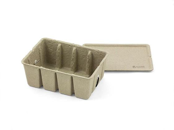 Pulp Card Box Beige