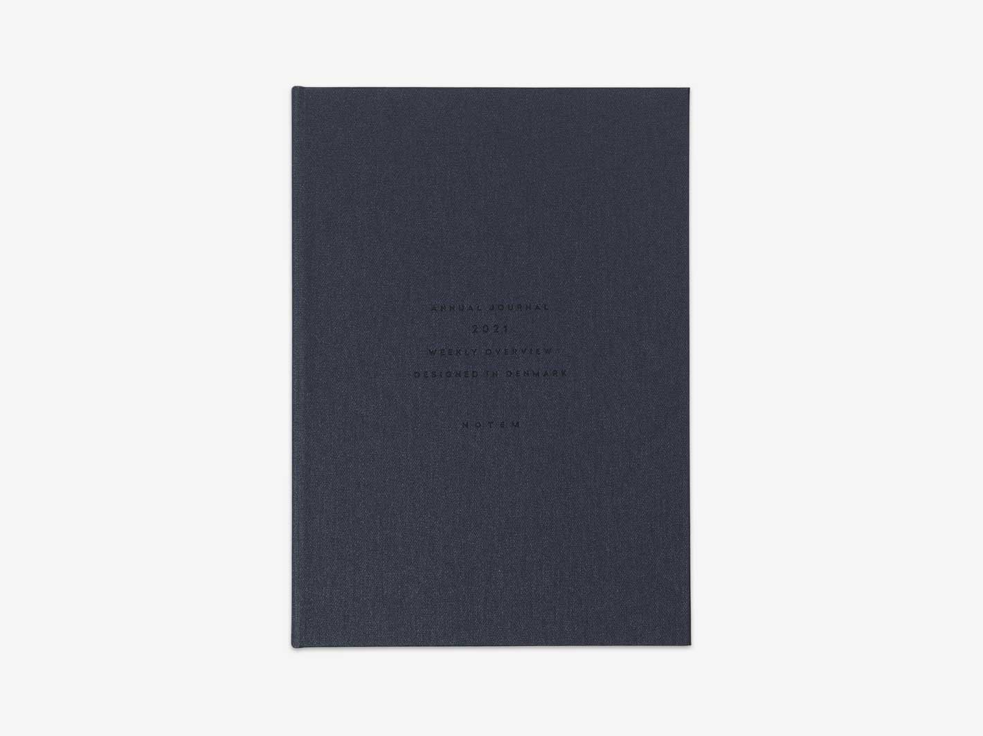 2021 Alva Annual Weekly Planner A5 Navy