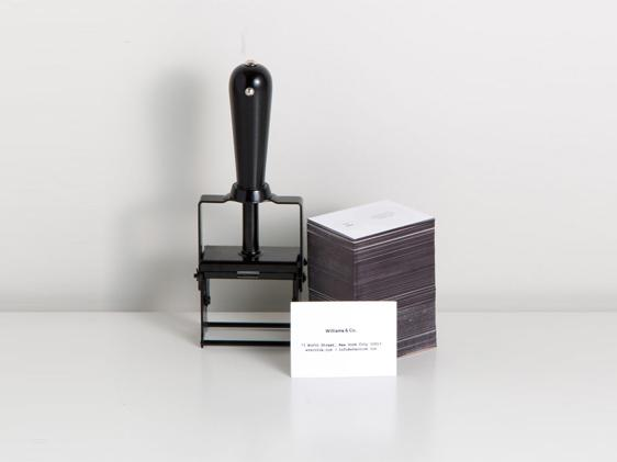 Self Inking Stamp Black + Black L