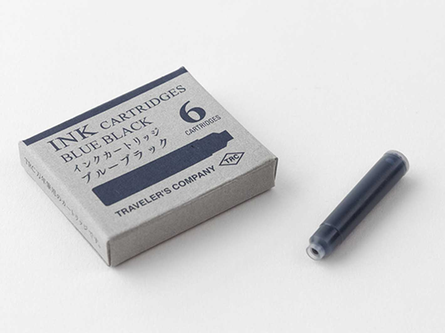 Brass Fountain Pen Ink Cartridges Blue Black