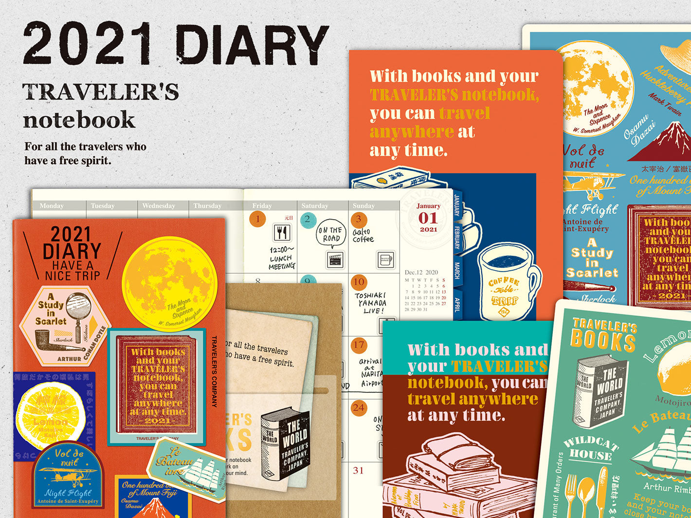 2021 Weekly Diary Passport Size TRAVELER'S