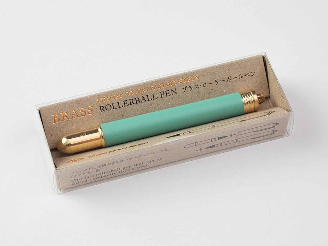 Brass Rollerball Pen Limited Edition Factory Green