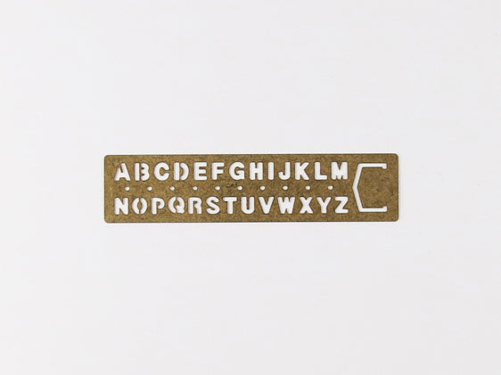 Brass Bookmark Template Alphabet