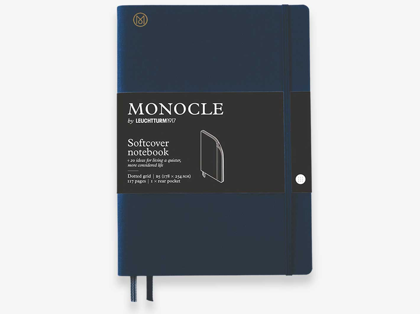 Linen Softcover Large B5 Notebook Navy