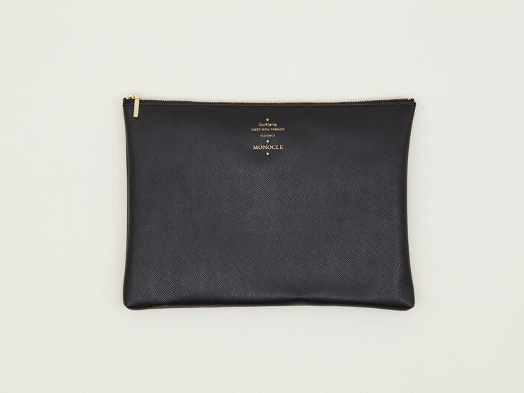 Delfonics x Monocle Large Zip Pouch Black