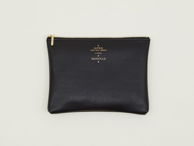 Delfonics x Monocle Medium Zip Pouch Black
