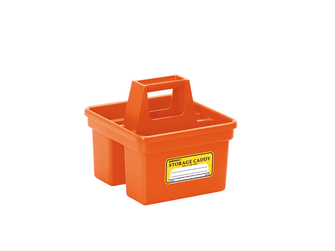 Storage Caddy Small Orange