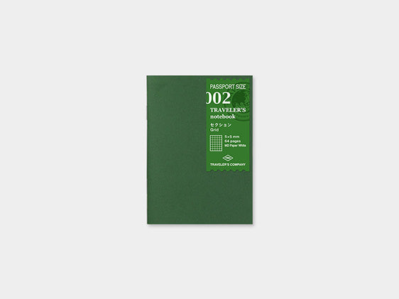 002. Grid Refill Midori TRAVELER'S notebook Passport Size