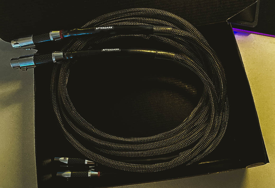 AfterDark. Project ClayX Black Mountain Carbon Fiber Woven XLR Balance Cable