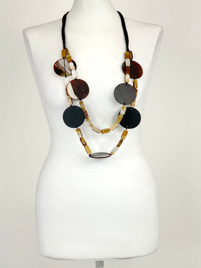 Lagenlook Statement Nova Long Necklace in Yellow.Code BC-116.
