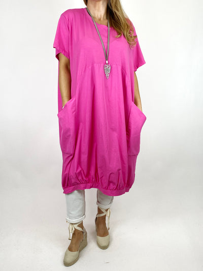 Lagenlook Laya Circle Shape Tunic in Fuchsia. code 1688.