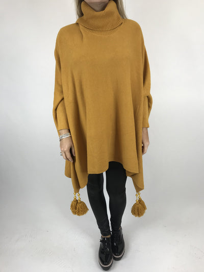 Lagenlook Melody Oversized Jumper in Mustard. code 2692.