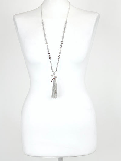 Lagenlook beach Star & heart Tassel Necklace .code R2850.