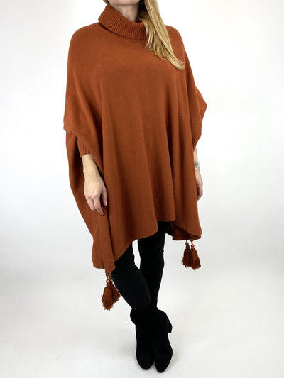 Lagenlook Melody Oversized Jumper in Rust. code 2692.