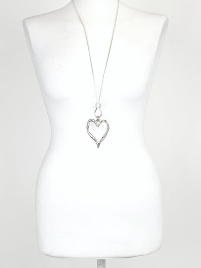 Lagenlook Marble Heart Necklace .code N954.
