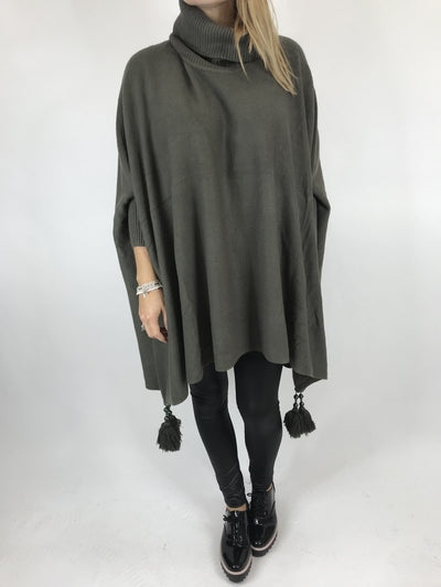 Lagenlook Melody Oversized Jumper in Khaki. code 2692.