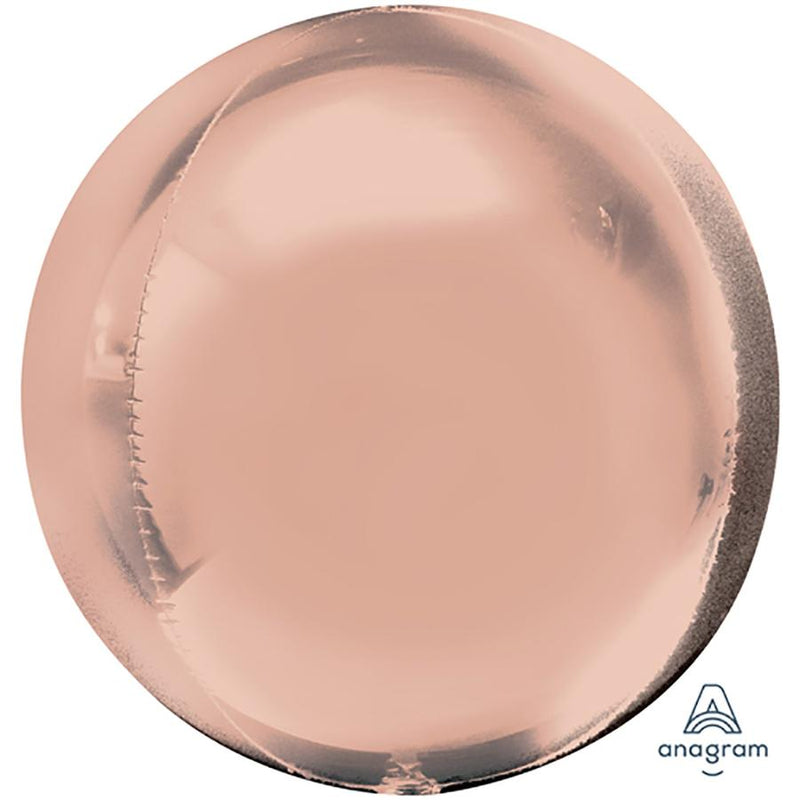 "Orbz ""Rose Gold"" Foil Balloon, G20, bulk, 38 x 40cm"