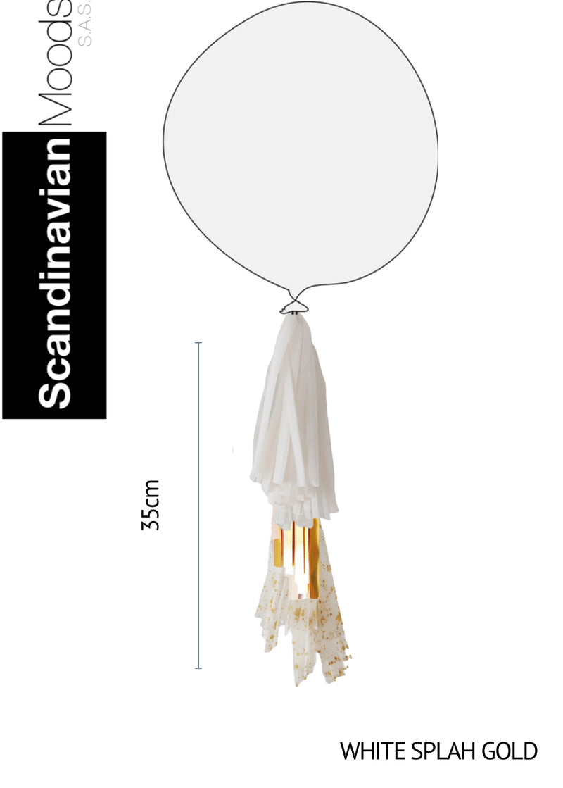 Tassel White Splash Gold 35 x 25 cm