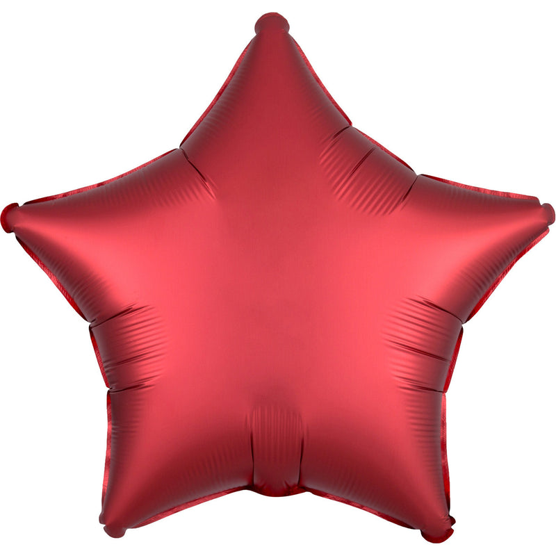 """Satin Sangria Star"" Foil Balloon Star, S15, packed, 43cm"