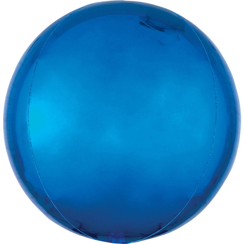 "Orbz Blue Foil Balloon G20 Packaged 15""/38cm w x 16""/40cm h"