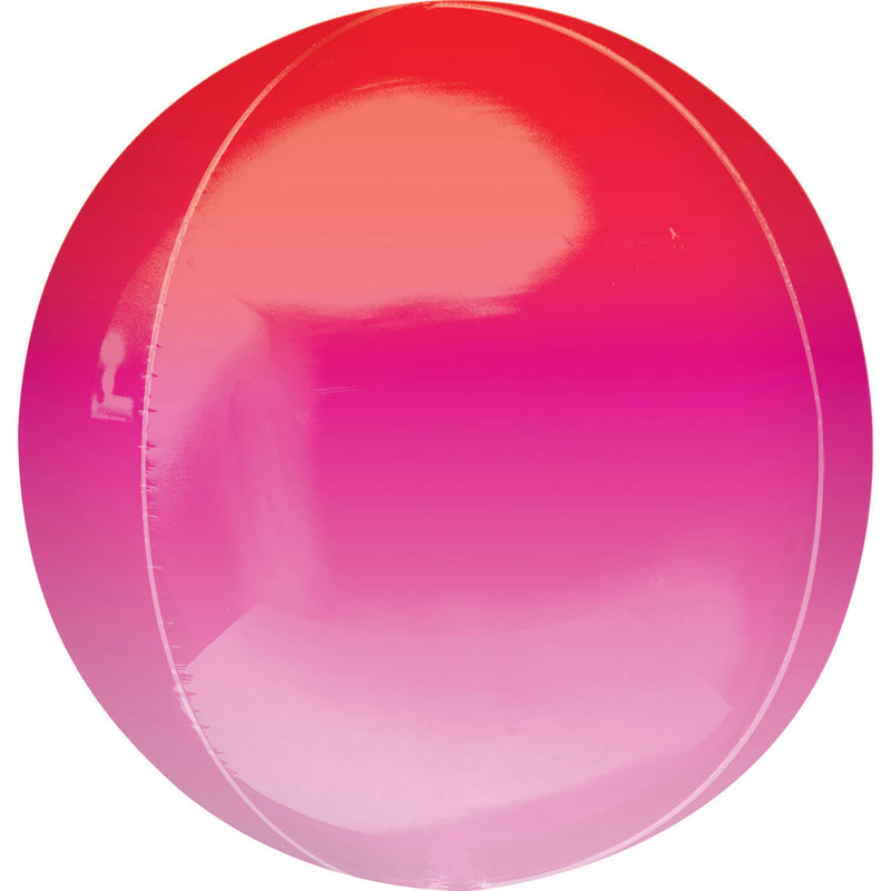 Orbz Ombré Red & Pink Foil balloon G20