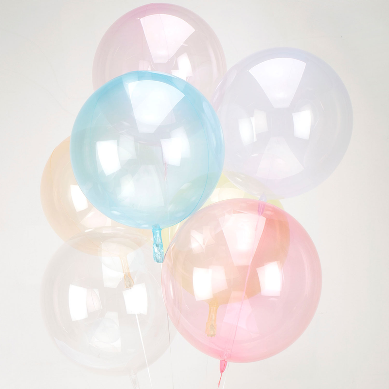 Clearz Crystal Light Pink Foil Balloon S40 bulk