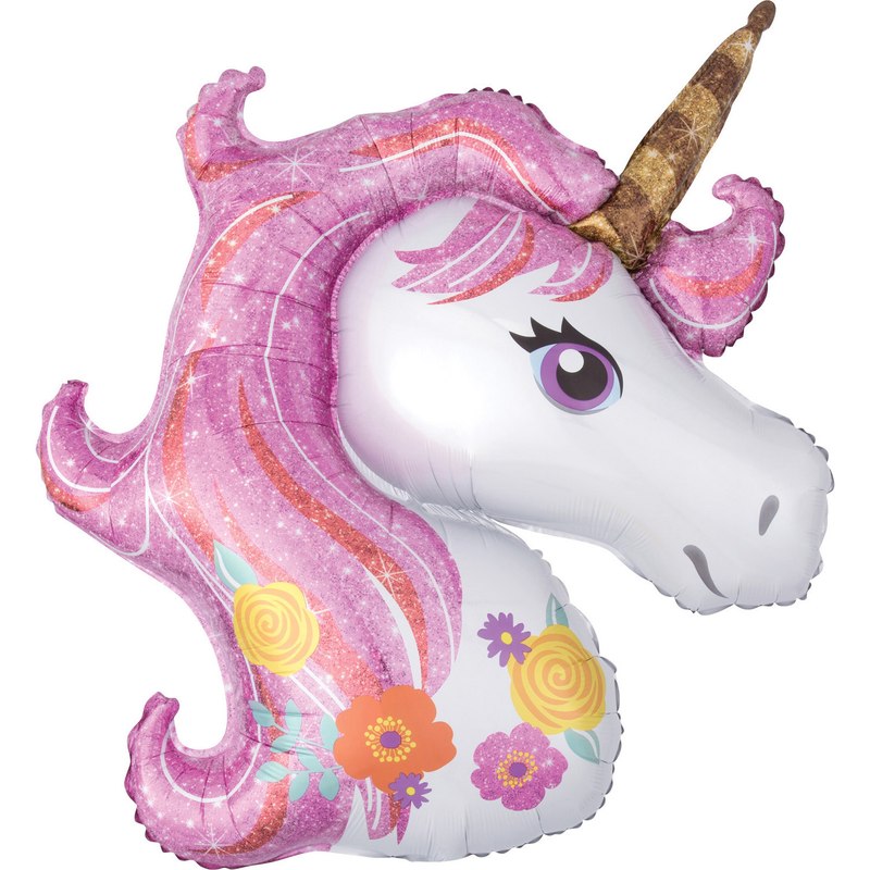 "SuperShape ""Magical Unicorn"" Foil Balloon , P35, bulk, 83 x 73cm"