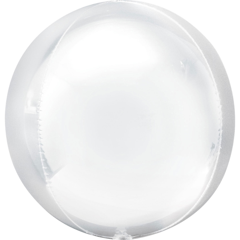 Orbz White Foil Balloon G20