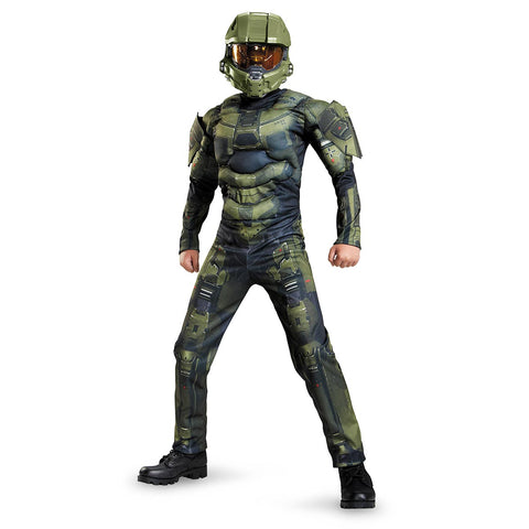 Halo Master Chief Classic Muscle Costume for Boys