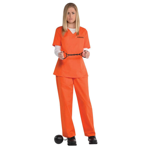 Orange Inmate Costume for Adults