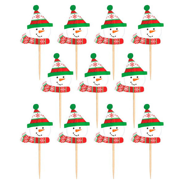 Christmas Snowman Party Picks 36/pkg