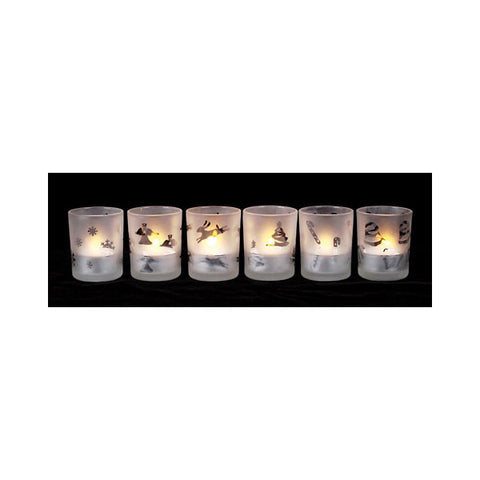 2in Frosted Candle Holder 24pc Display