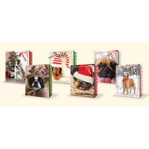Christmas Bag With Pets Asst. - Large