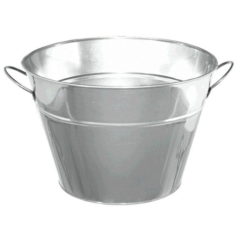 Silver Metal Pail Bucket, a versatile way to keep all your drinks cool no matter your party