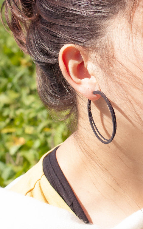 SCOOP medium hoop earrings, 3D printed ultra-lightweight