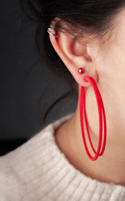 SCOOP, Large hoops earrings, 70 mm