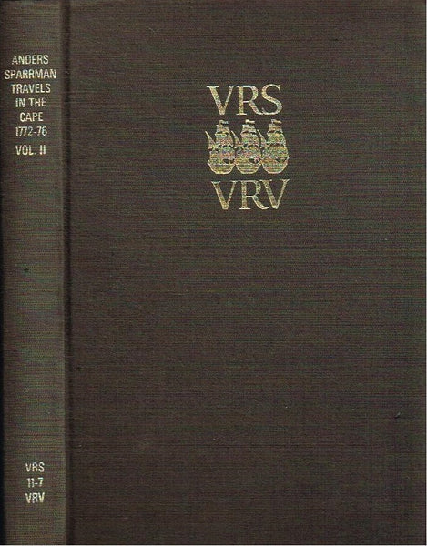 Anders Sparrman travels in the Cape 1772-76 vol.2 VRS II-7