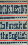 In pursuit of the English Doris Lessing (1st edition 1960)