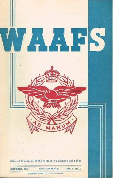 WAAFS official magazine of the women's auxiliary air force (SCARCE) vol2 no7 october 1942