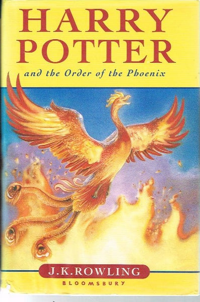 Harry Potter and the order of the phoenix J K Rowling (1st edition 2003)