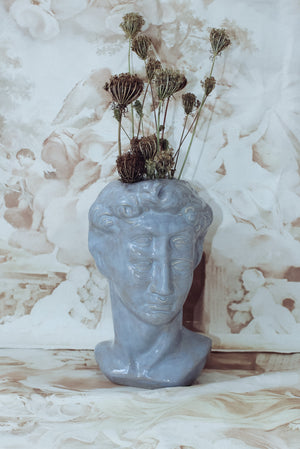 DAVID DEUX FOIS VASE - DUSTY BLUE