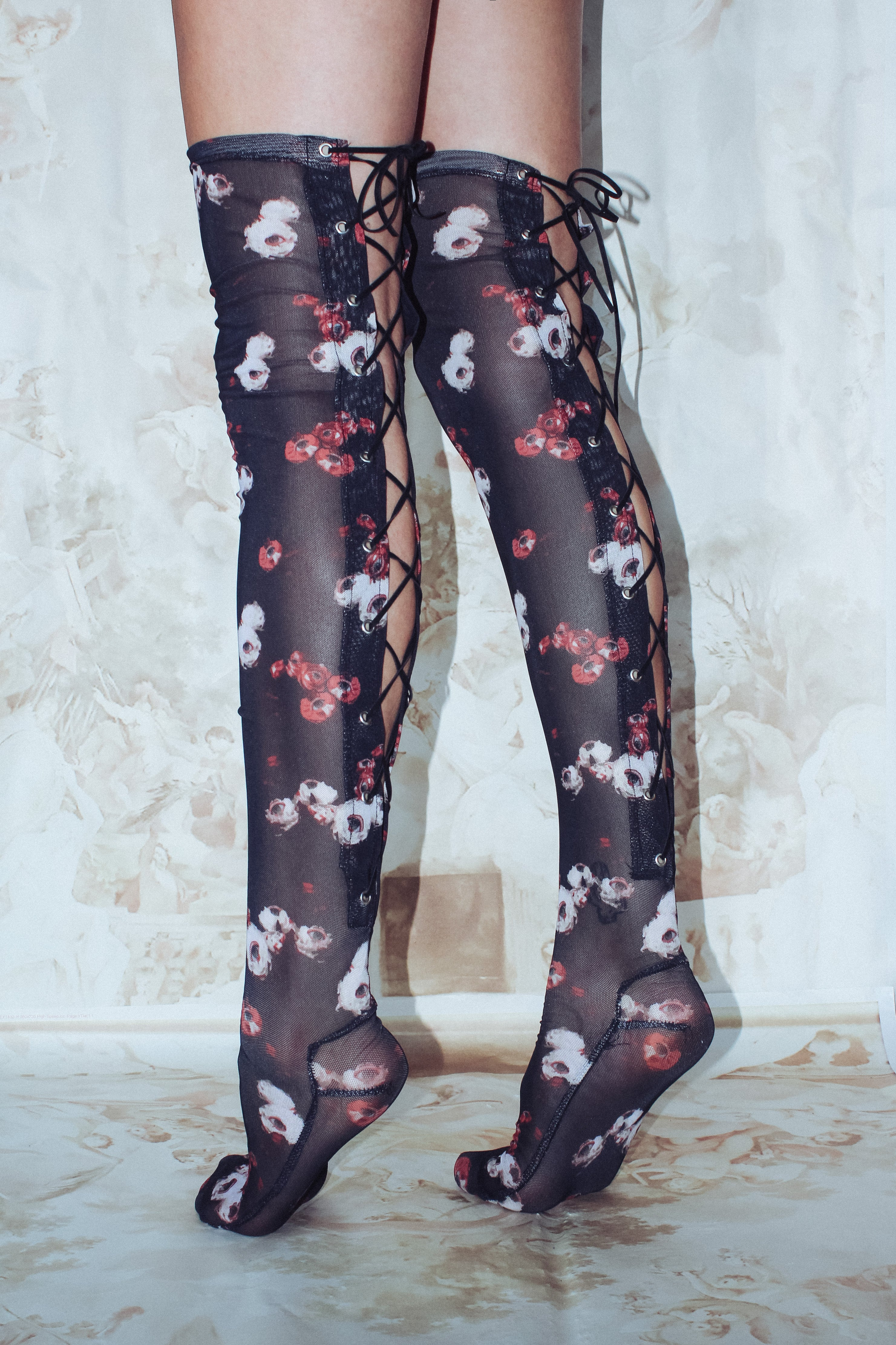 YVES RENOIR THIGH HIGH SOCKS