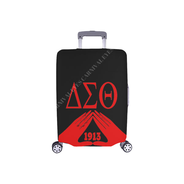 Delta Sigma Theta 3 letter black luggage cover