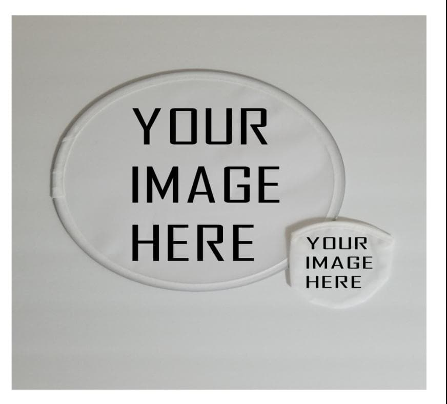 Foldable Fan with Pouch, great for Graduation, Wedding, Church, Sublimation Blank - CARNIVALEYES.COM