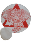 Delta Sigma Theta Red Elephant Foldable Fan with Pouch, great for Graduation, Wedding, Church, Sublimation Blank