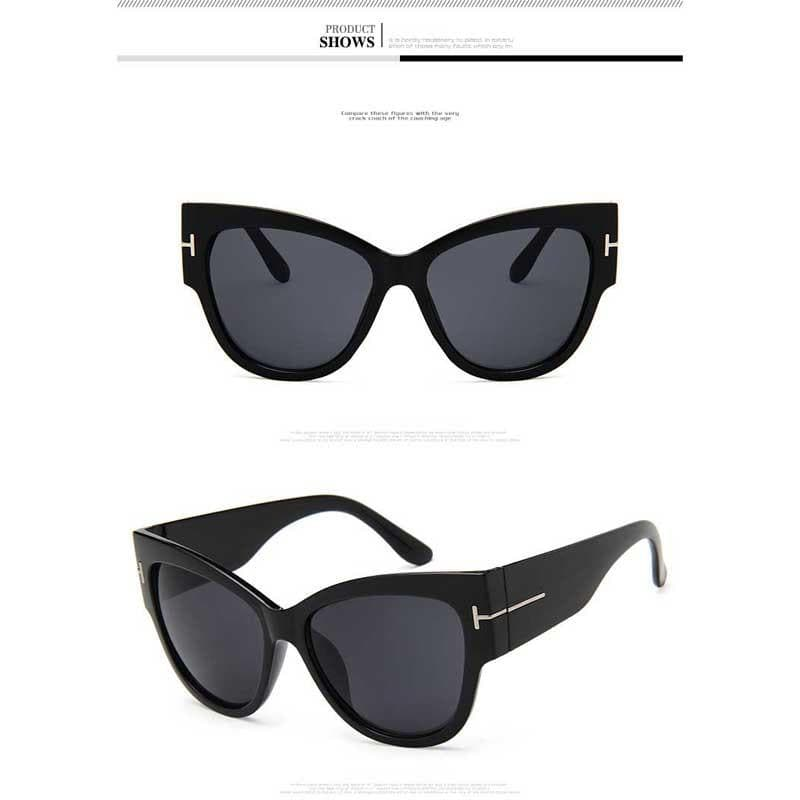 Oversized Vintage Cat eye Sunglasses For Women - CARNIVALEYES.COM
