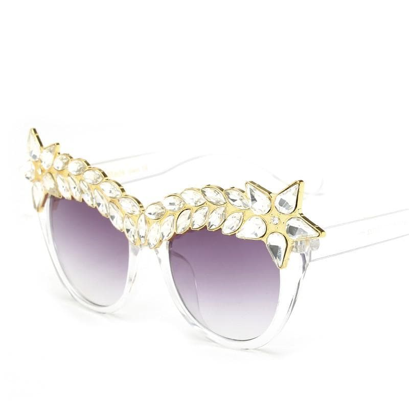 Crystal Diamonds Oversized Frame Glasses - CARNIVALEYES.COM