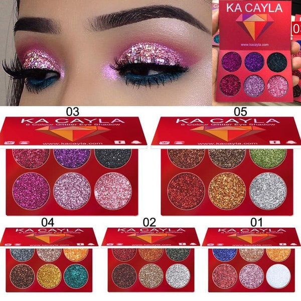 Natural Waterproof Glitter Eyeshadow Palette - CARNIVALEYES.COM