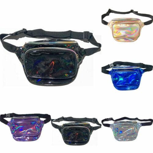 Crossbody Holographic Fanny Pack - CARNIVALEYES.COM